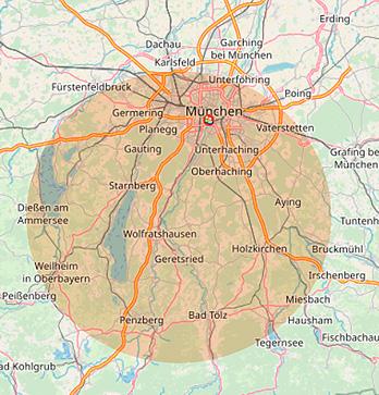 Einzugsgebiet Urban Münchner Baumpflege